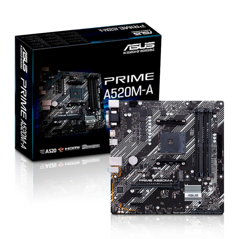 Placa Mae AMD AM4 A520 4xDdr4 Hdmi/Vga/Dvi  A520M-A Asus