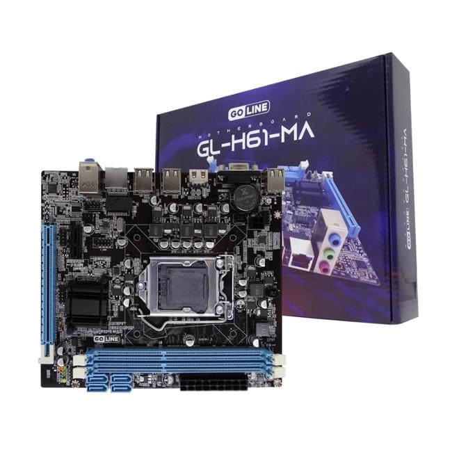 Placa Mae Intel 1155 Ddr3 Hdmi Vga GL-H61-MA Goline
