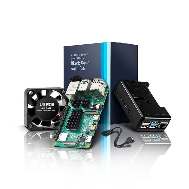 Raspberry Pi 4 Starter Kit Basico com Ventilador  Vilros