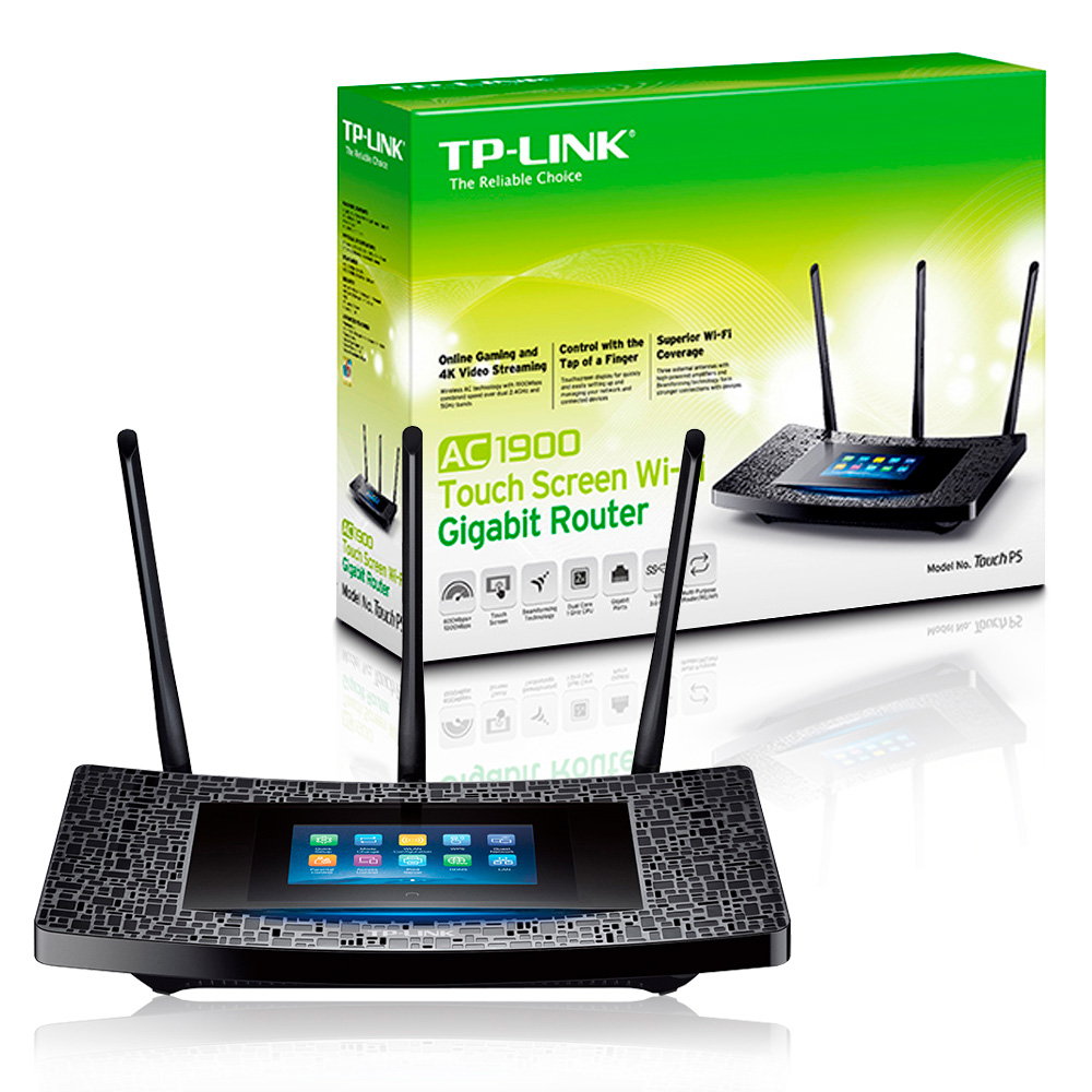 Roteador Wireless Gigabit Dual Band 1300mbps AC1900 Touch P5 TP-Link