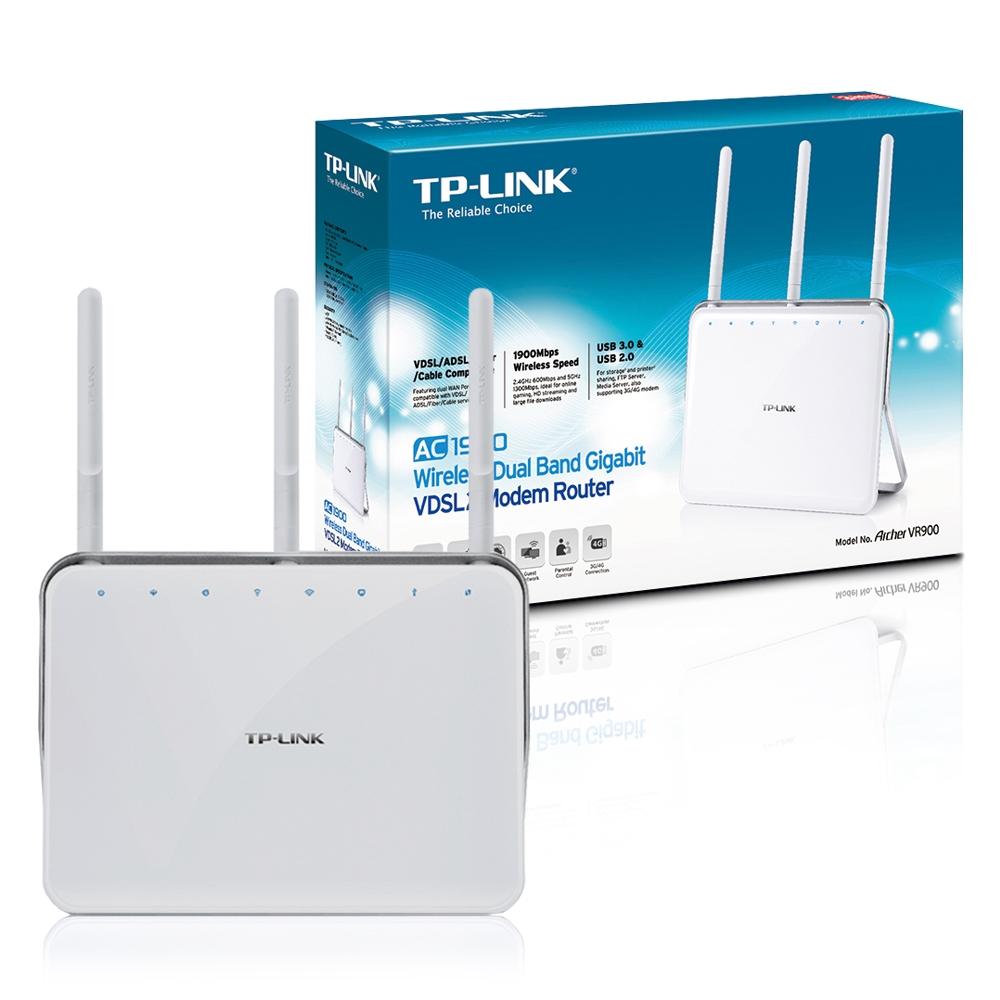 Roteador Wireless Gigabit VDSL / ADSL 1300mbps Archer AC1900 VR900 TP-Link