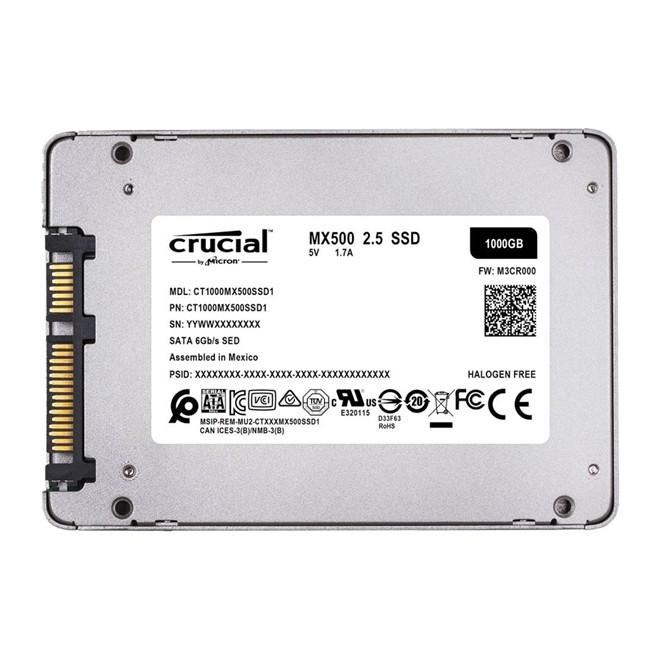 Ssd. 1TB 2.5 Sata 3 560mb/s Leit - 510mb/s Grav MX500 CT1000MX500SSD1 Crucial