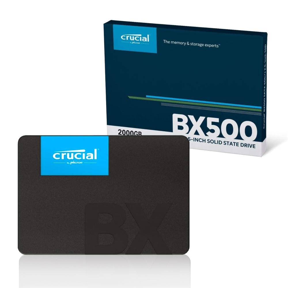 Ssd. 2TB 2.5 Sata 3 540 MB/s Leit - 500 MB/s Grav CT2000BX500SSD1 Crucial