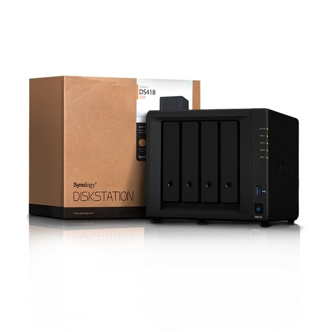 Storage Synology Diskstation Servidor Nas 4 Baias S/Hd DS418 Synology