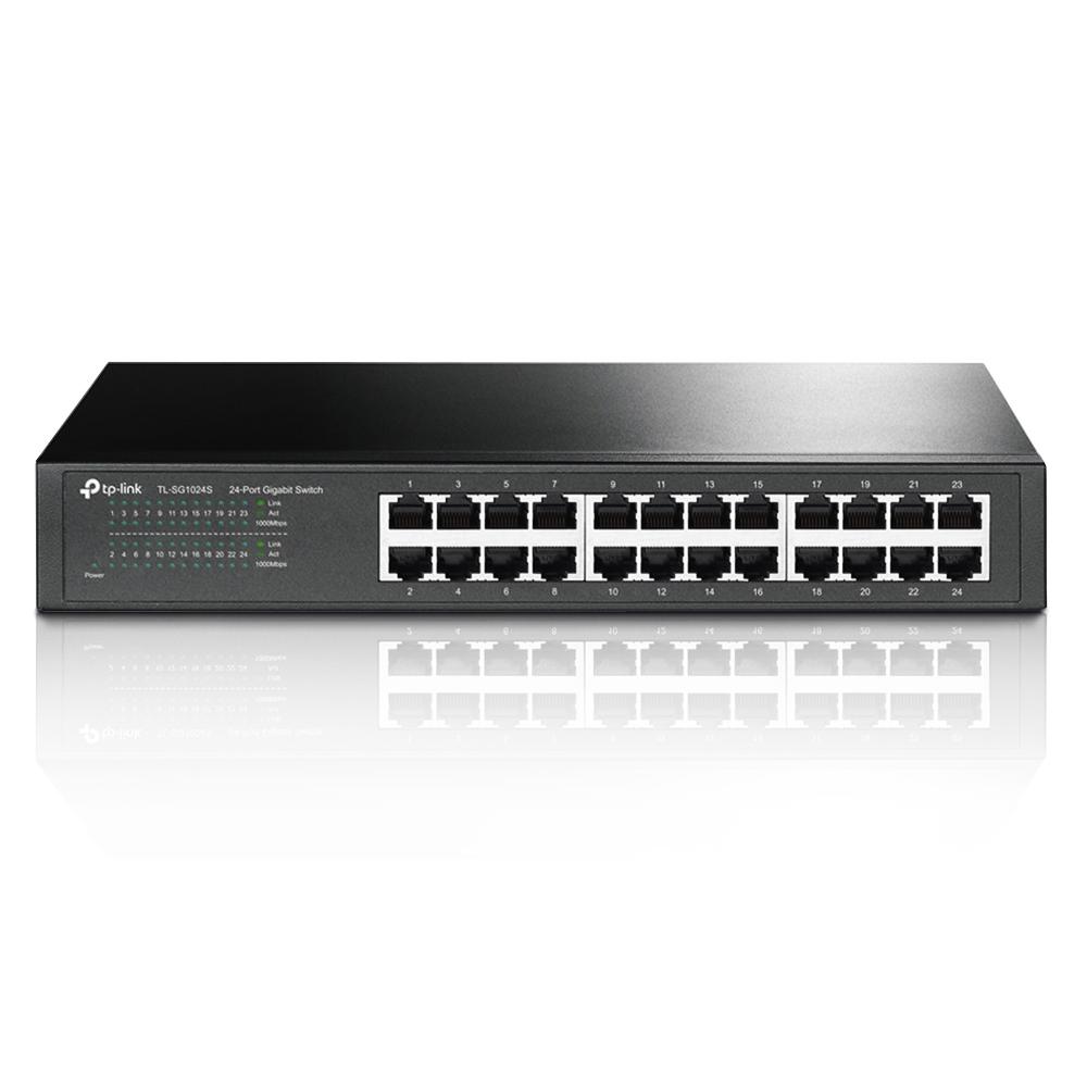 Switch 24 Portas 10/100/1000 Gigabit Rack/Mesa TL-SG1024S TP-Link