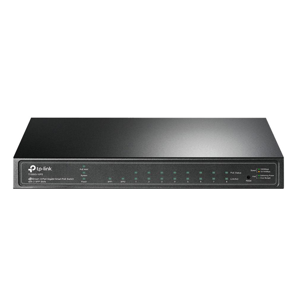 Switch  8 Portas 10/100/1000 + 2 Slots Gigabit T1500G-10PS TL-SG2210P TP LINK