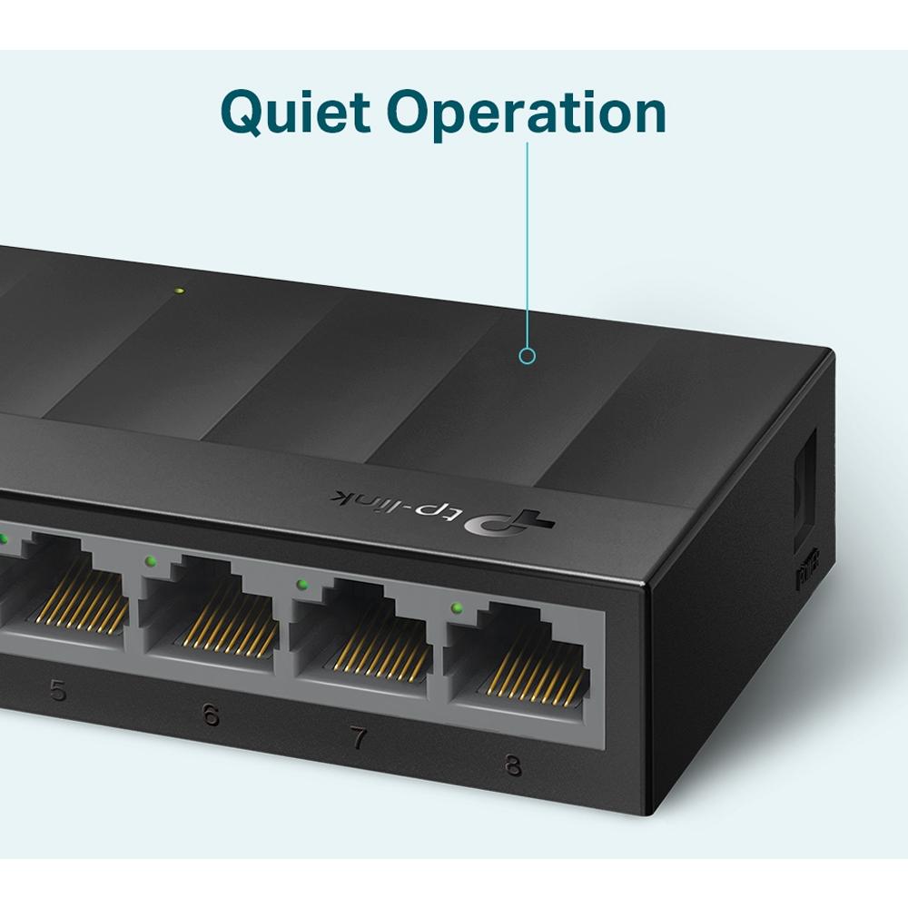 Switch  8 Portas 10/100/1000 Gigabit Mesa e Parede LS1008G TP LINK