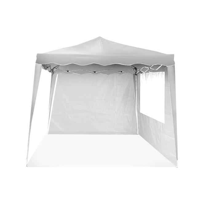 Tenda Gazebo Articulado 3x3 Branco com 2 Paredes IWGZAP-3BR Importway