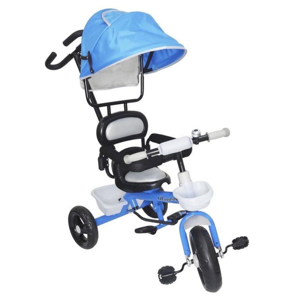 Triciclo Infantil Velotrol 2 em 1 com Capota Azul  BW084AZ Importway