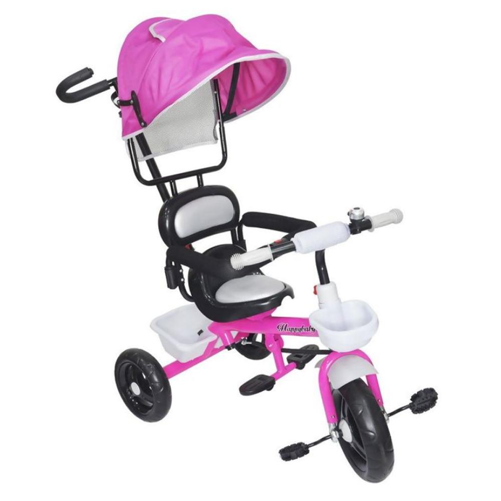 Triciclo Infantil Velotrol 2 em 1 com Capota Rosa BW084RS Importway