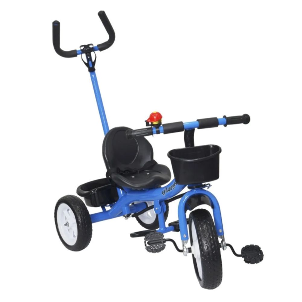 Triciclo Infantil Velotrol 2 em 1 com Haste Azul BW082AZ Importway