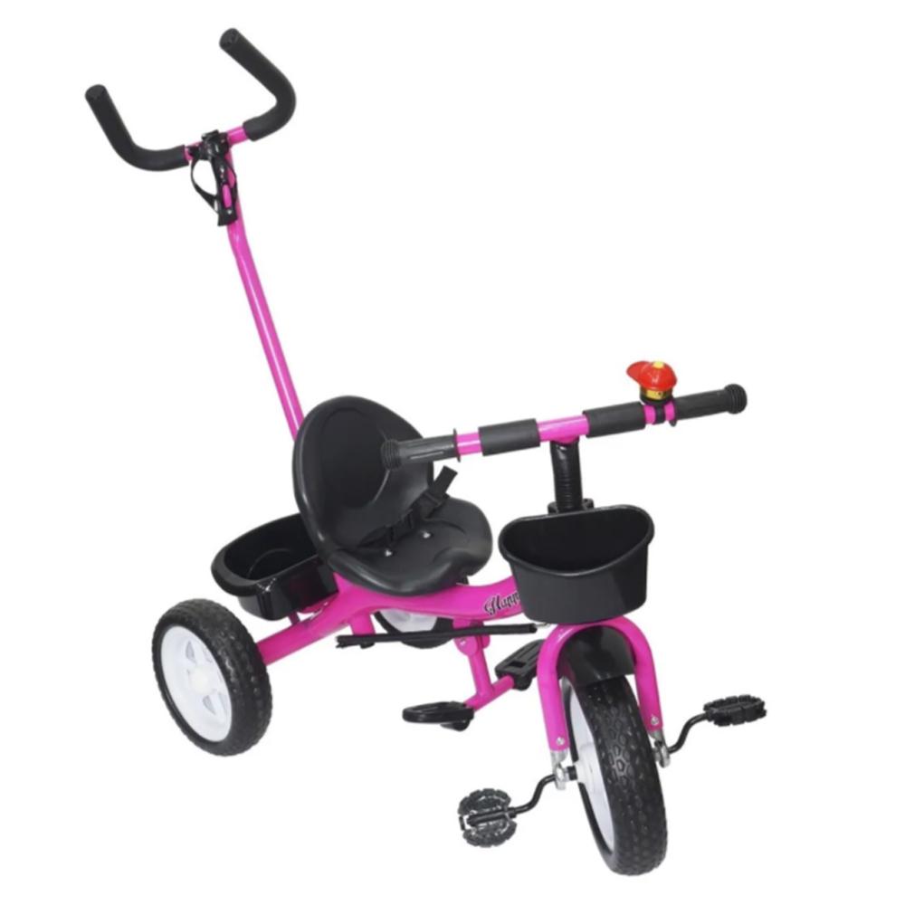Triciclo Infantil Velotrol 2 em 1 com Haste Rosa BW082RS Importway
