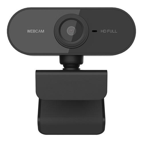 Webcam Full Hd 1080P com Microfone - Preto - Built-in 1080P Topstore