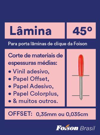 Lâmina de 45°