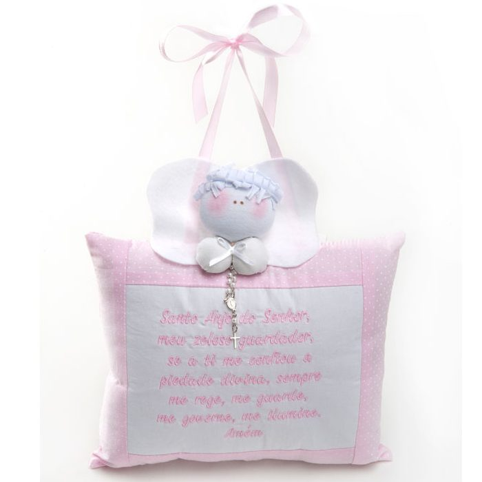 Almofada Anjo Grande rosa