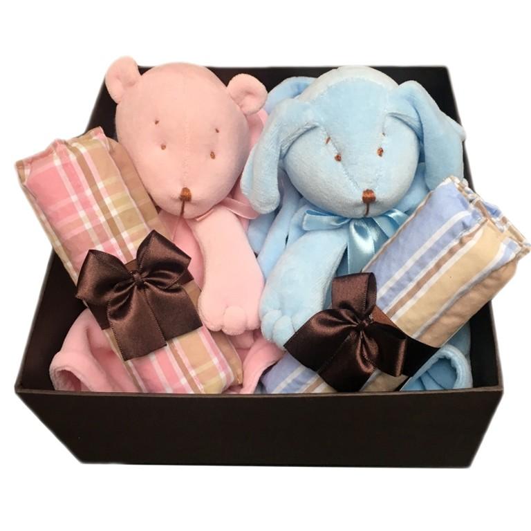 Caixa Gêmeos Rosa/Azul