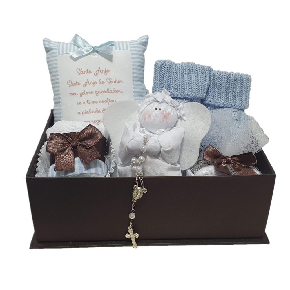 Caixa Presente Anjinho Azul