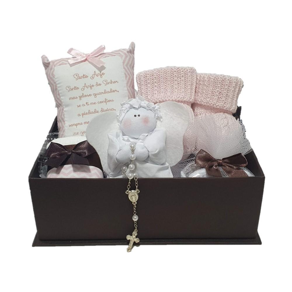 Caixa Presente Anjinho Rosa