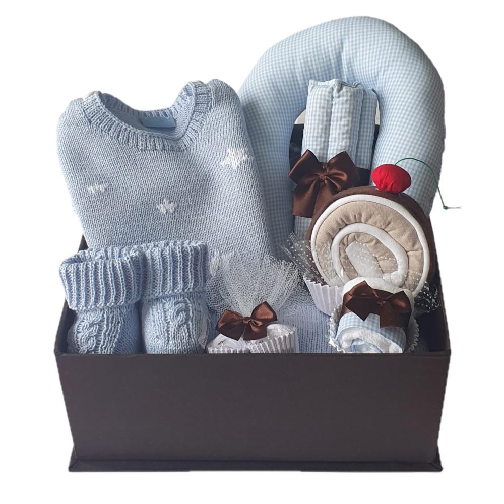 Caixa Presente Bebê Completa Azul