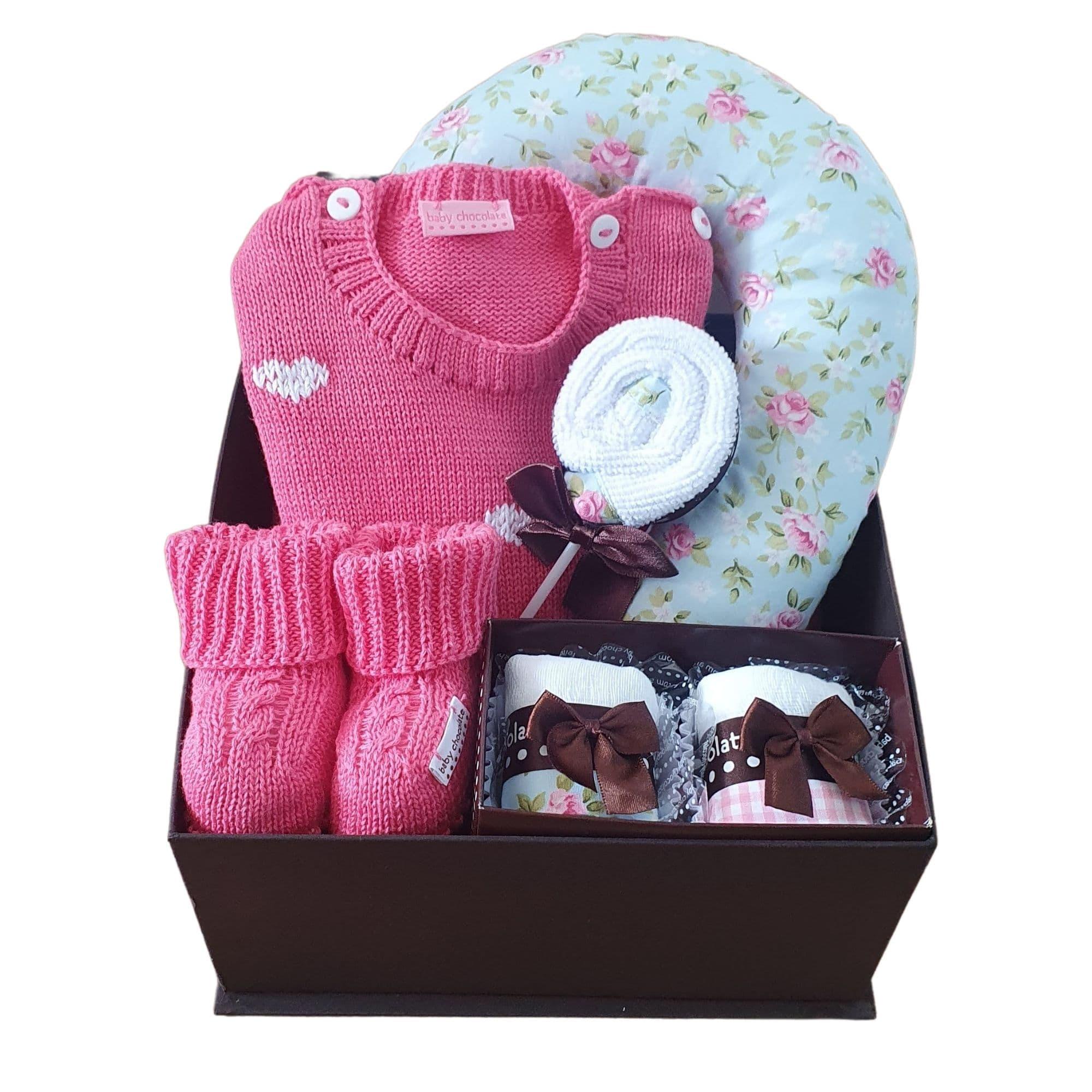 Caixa Presente Bebê Completa Candy