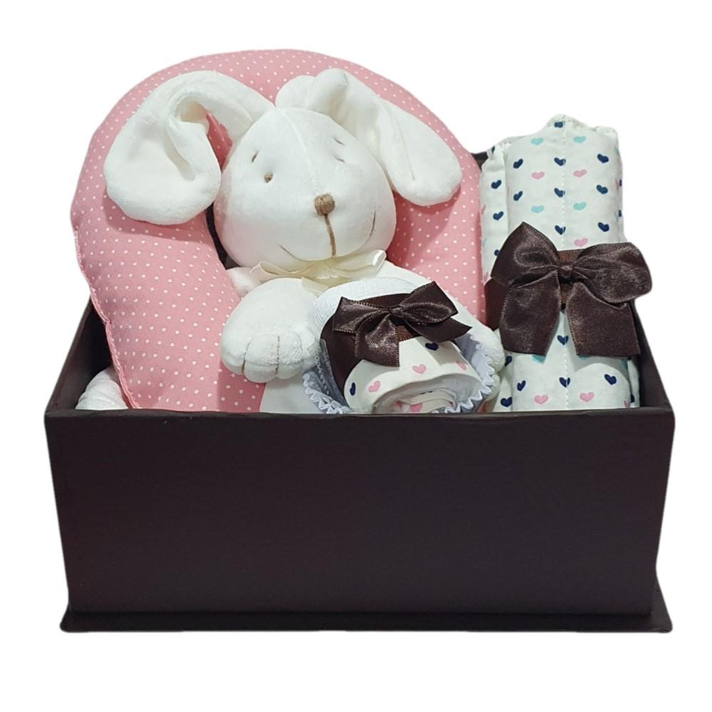 Kit Presente Baby Naninha Coelhinha - 4 peças