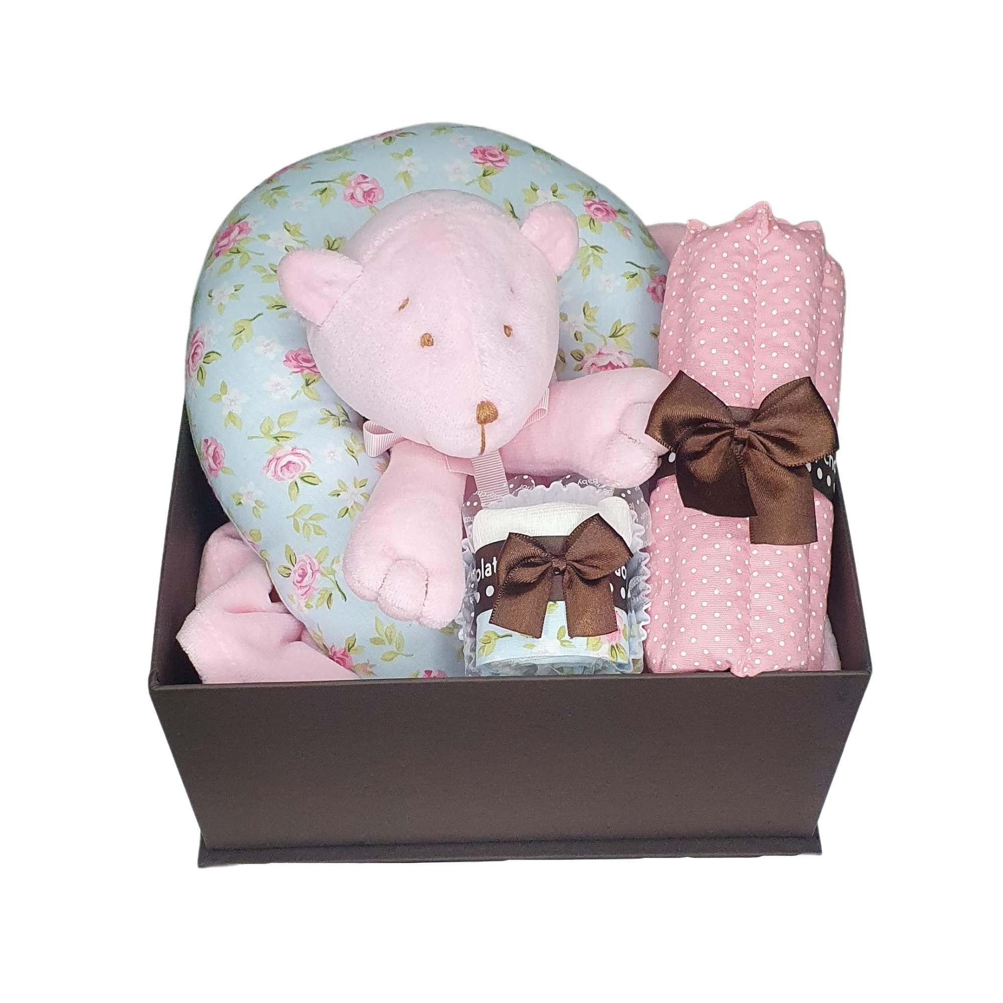 Caixa presente bebê Naninha Flor