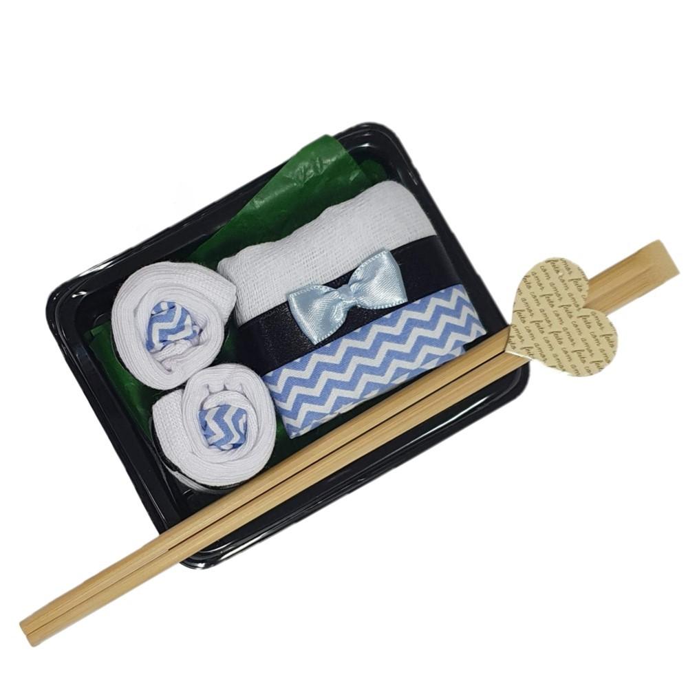 Kit Meia Presente Sushi Azul