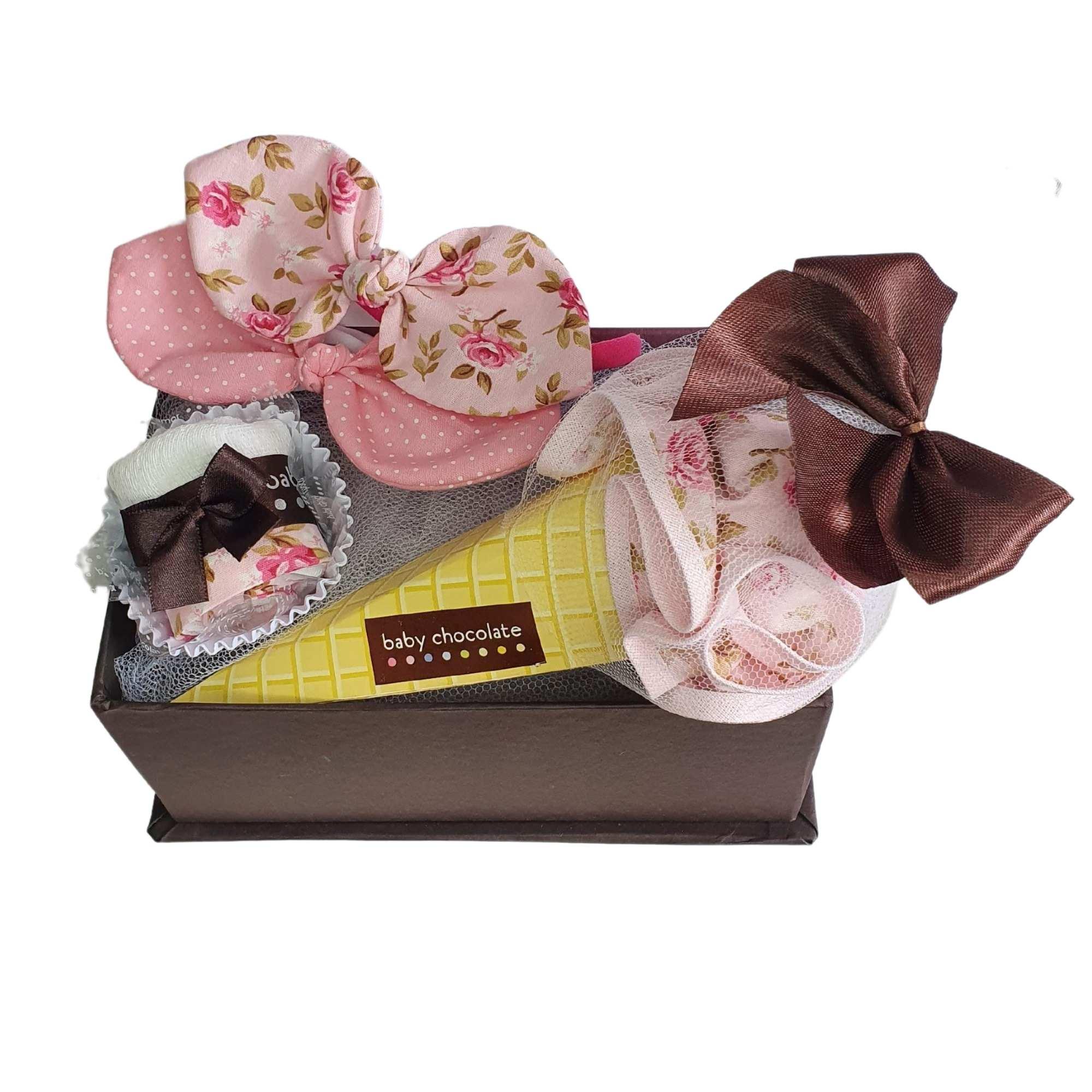 Kit Presente Baby Banho de Sol Floral Rosé - 4 peças