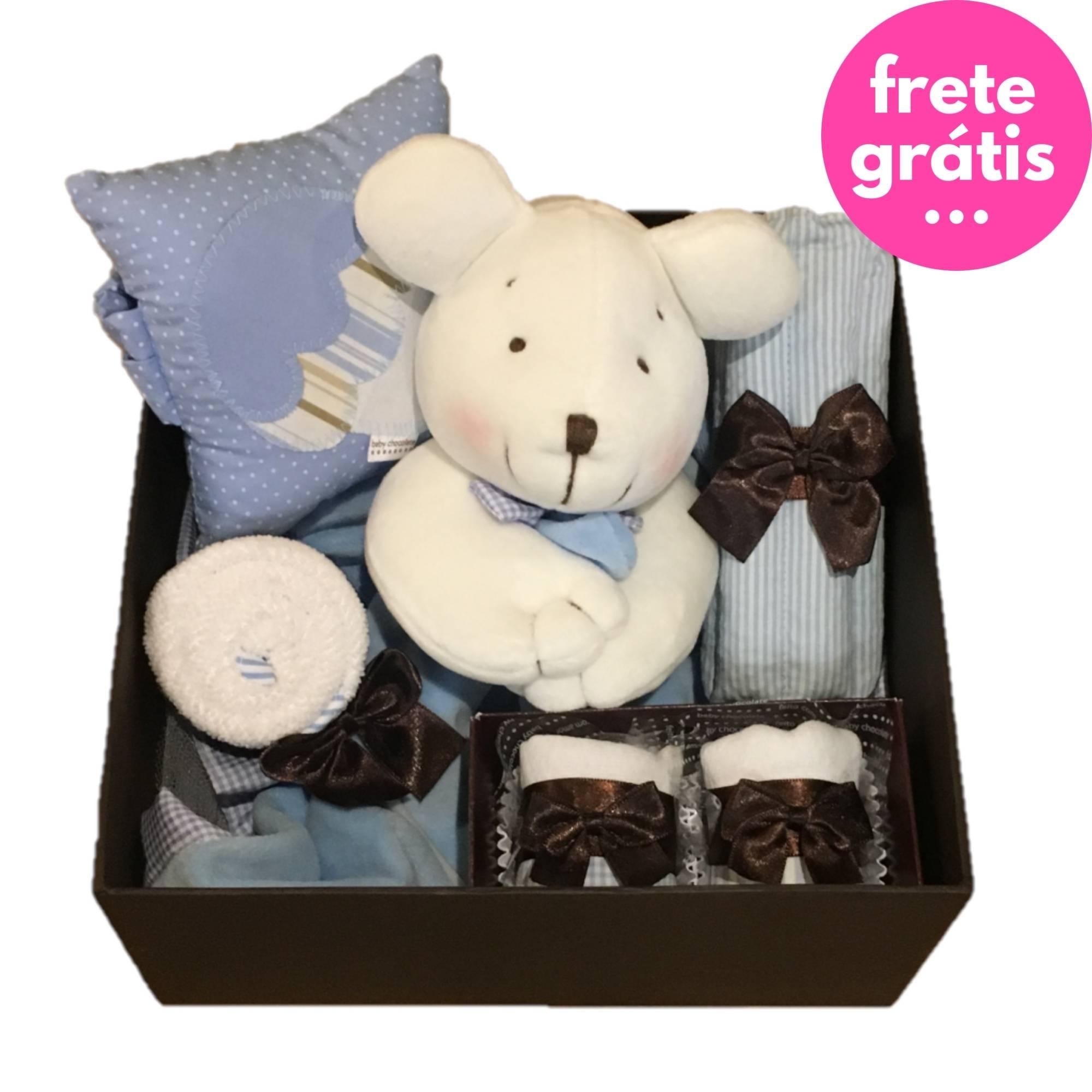 Kit Presente Baby Chocolate Azul - 6 peças