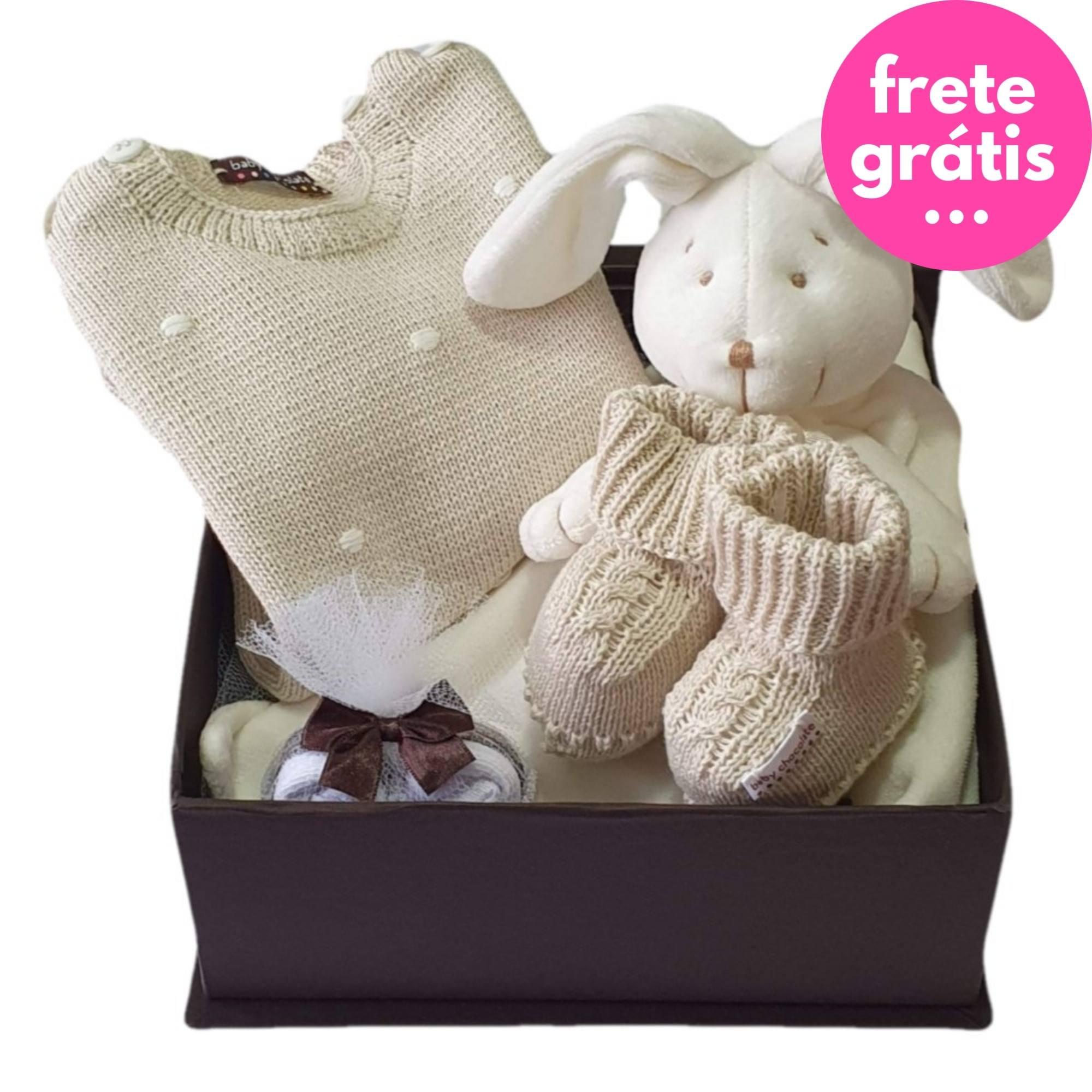 Kit Presente Baby Naninha Premium Bege - 4 peças