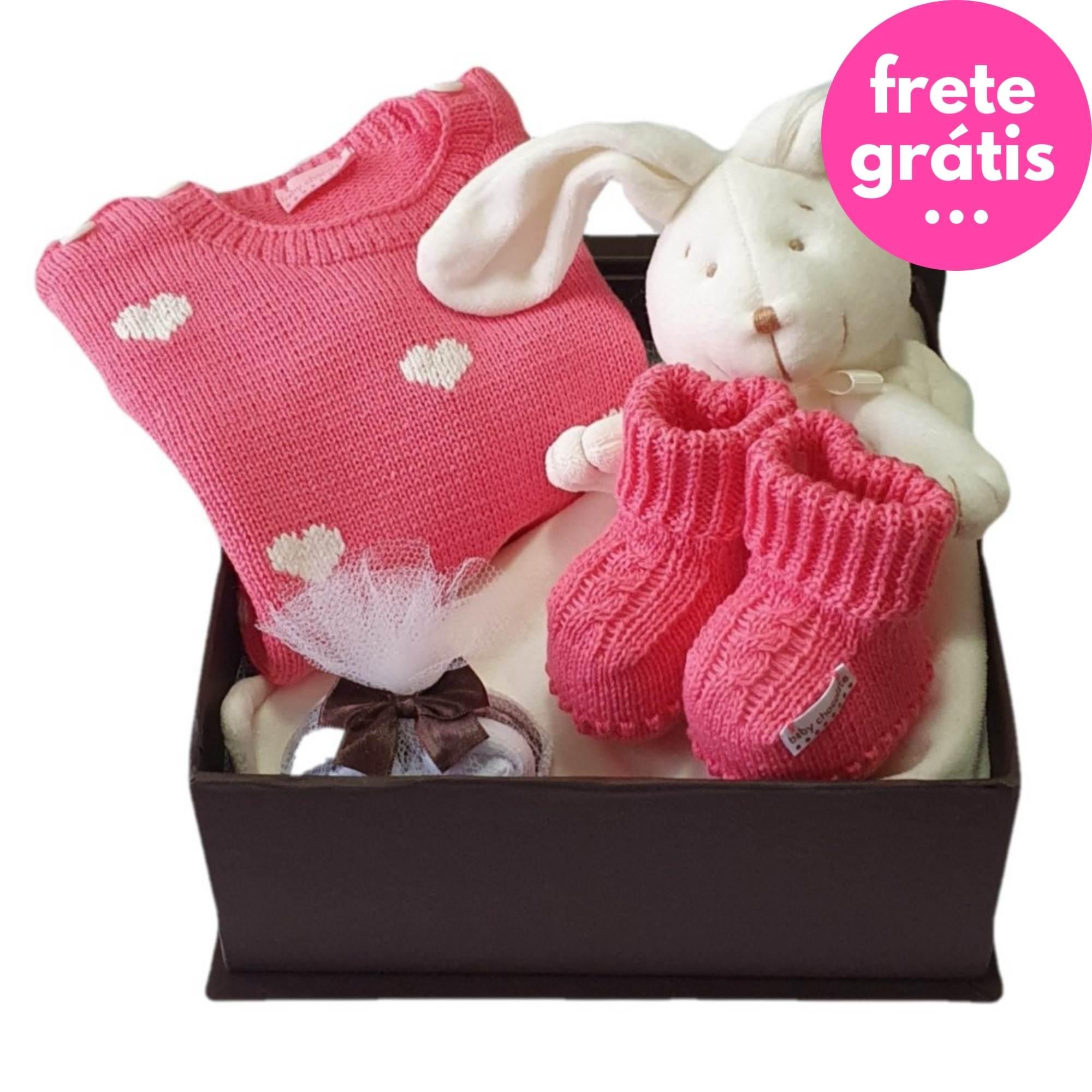 Kit Presente Baby Naninha Premium Candy - 4 peças