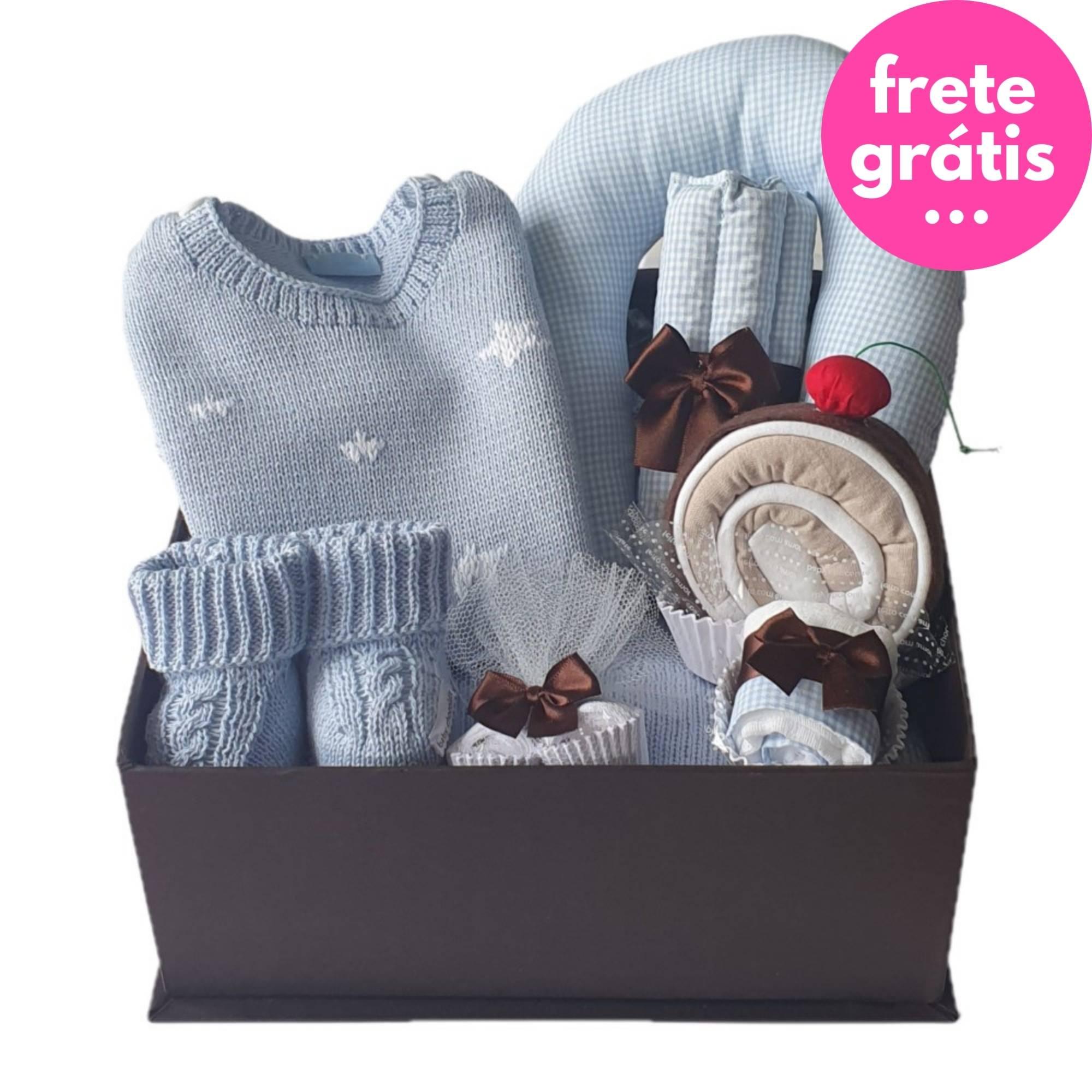Kit Presente Baby Premium Estrela Azul - 8 peças