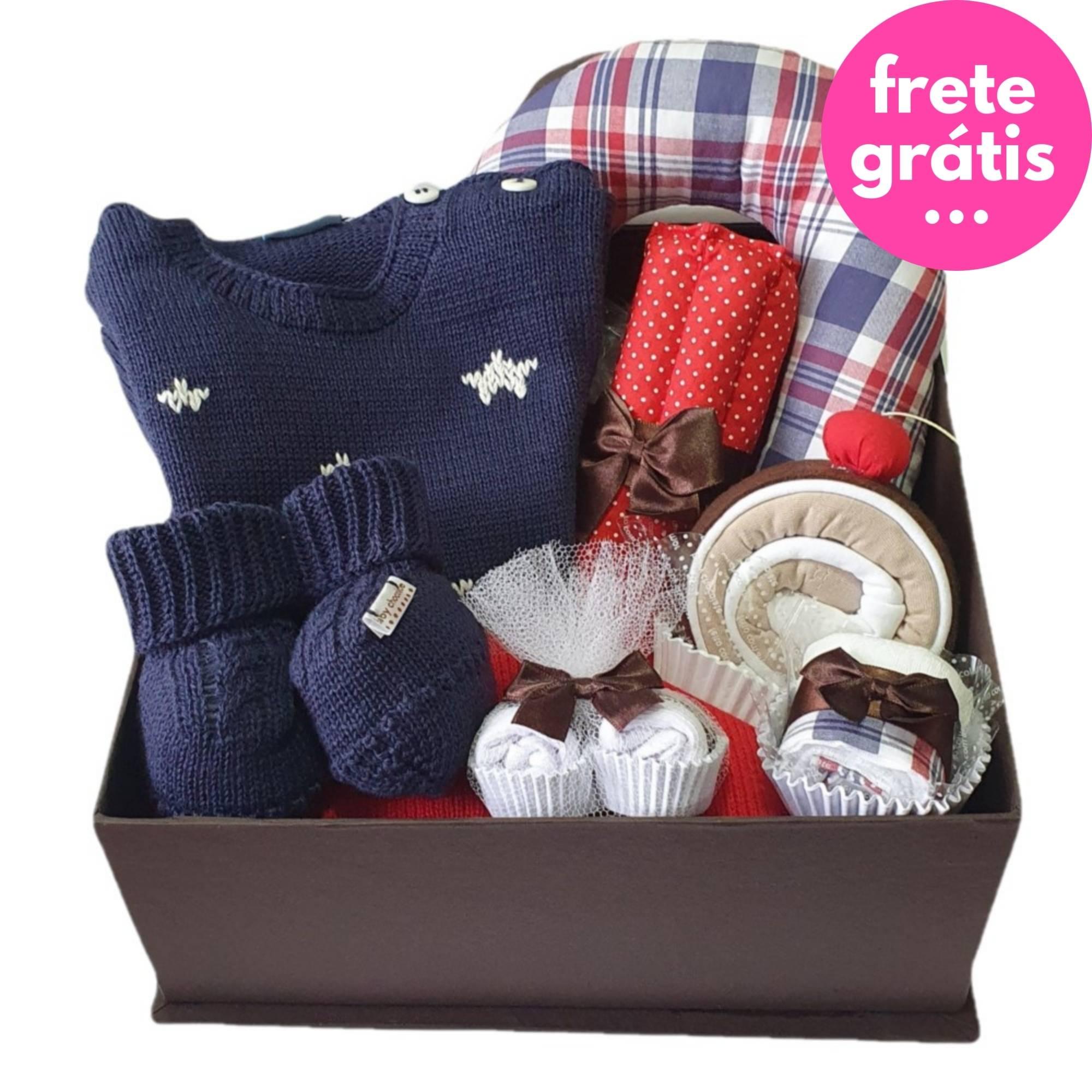 Kit Presente Baby Premium Estrela Marinho - 8 peças