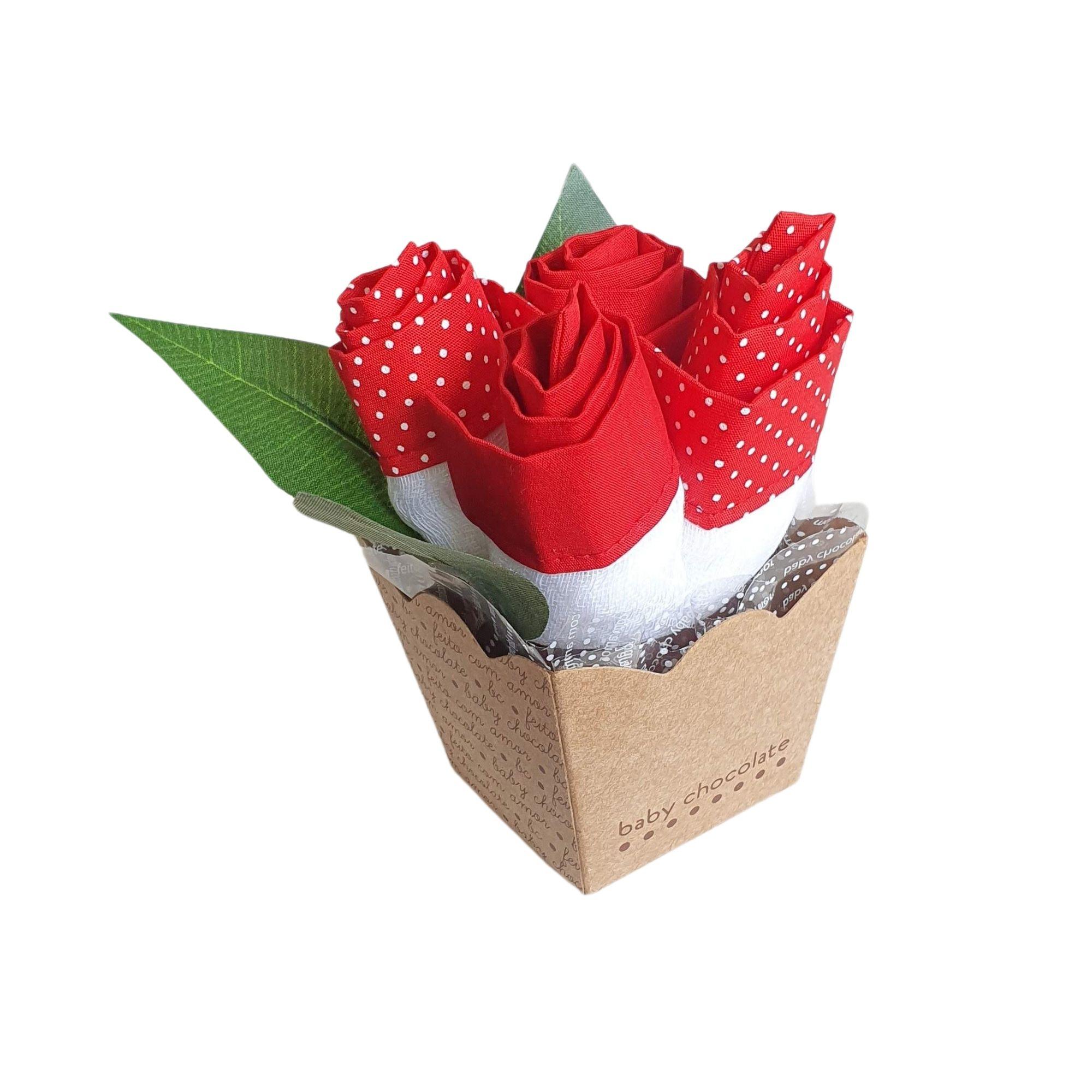 Vasinho de Flor Vermelho