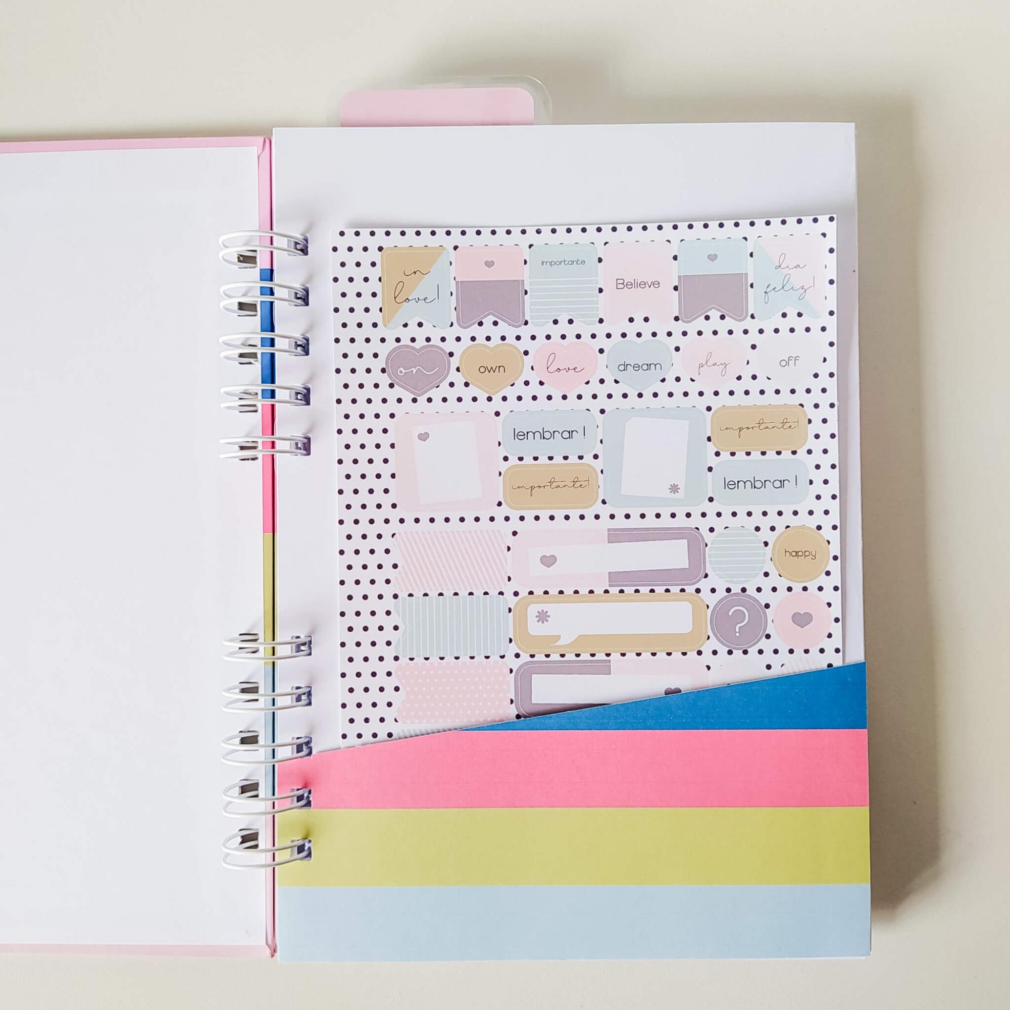 Caderno Médio (A5) - coleção Azul e Rosa
