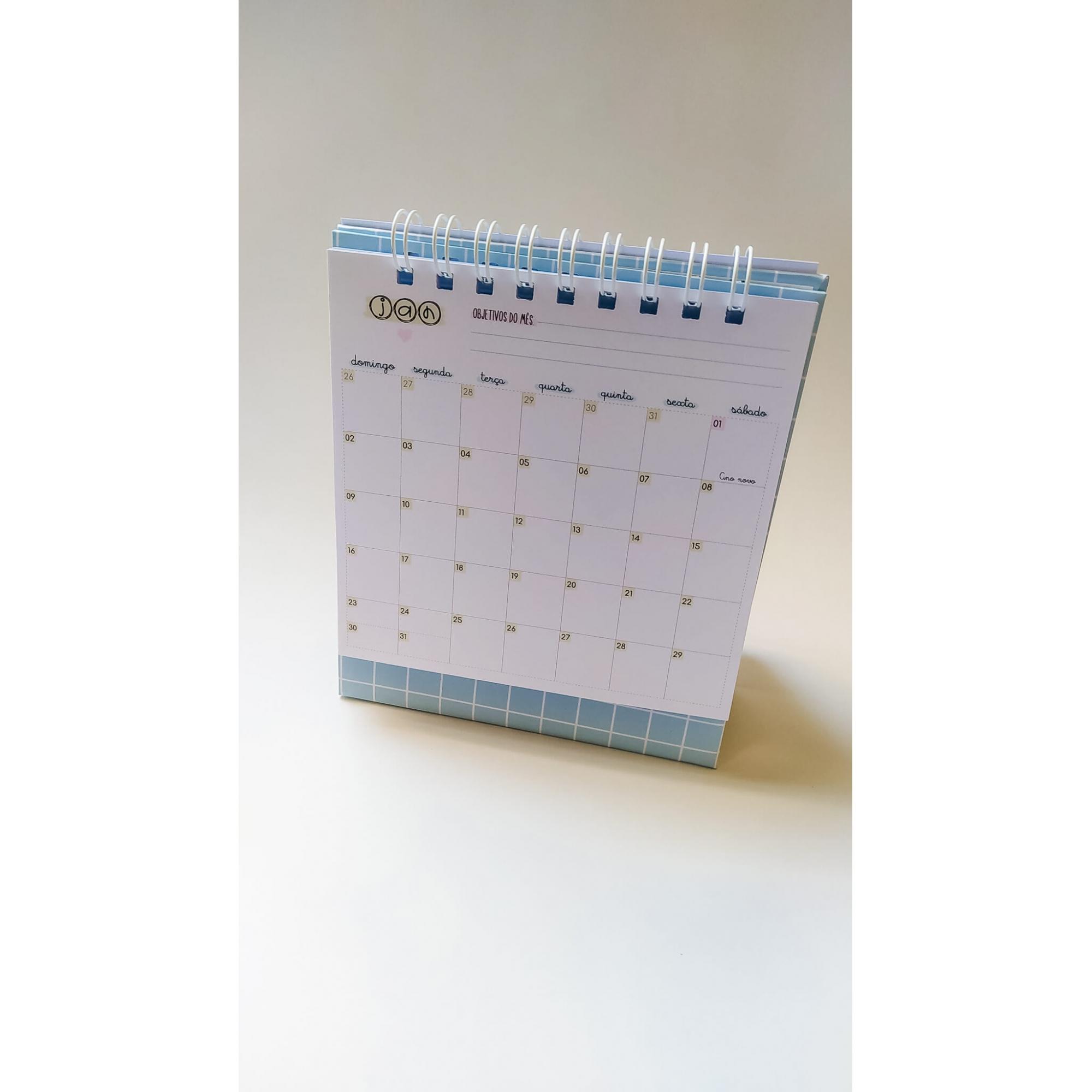 Calendário de mesa 18x15