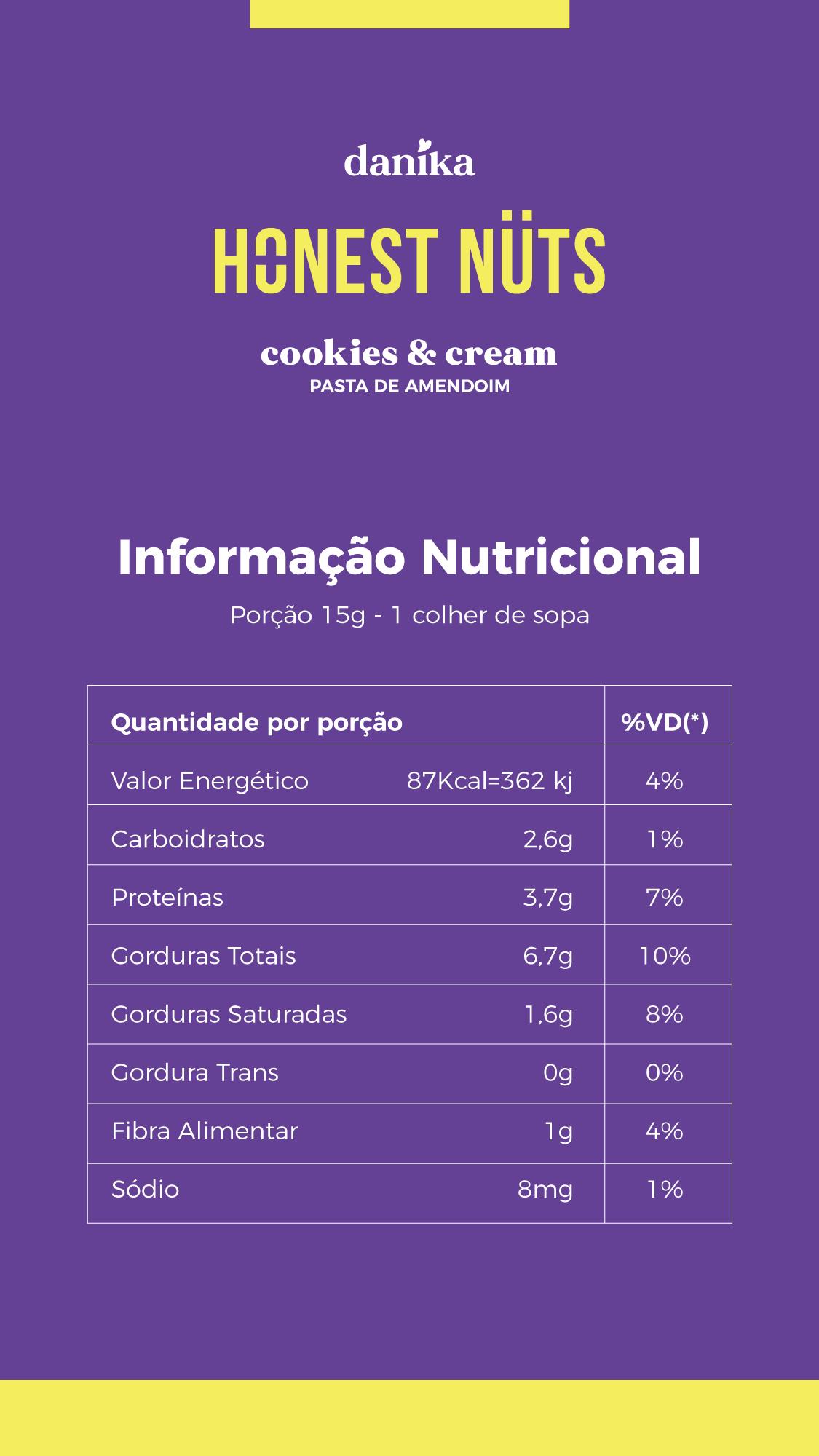 Cookies & Cream (220g)  - Honest Nuts