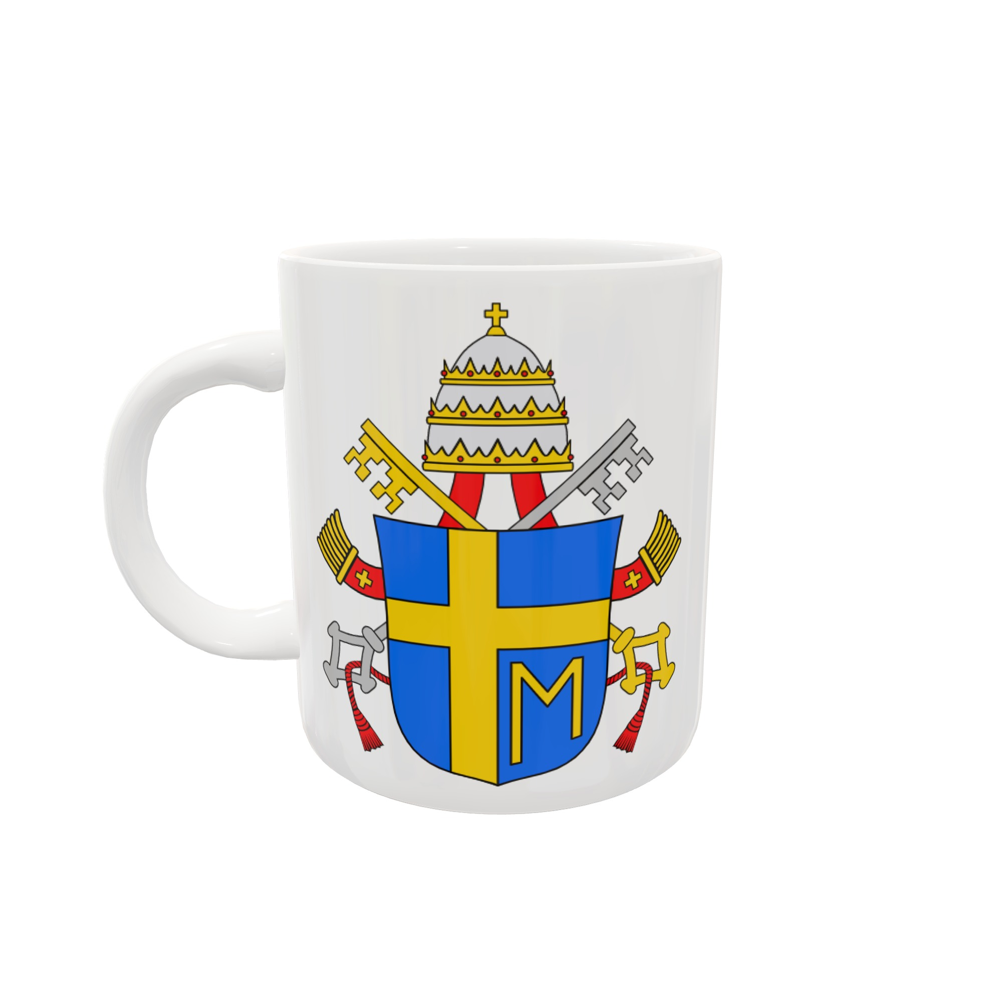 Caneca Brasão - Papa João Paulo II