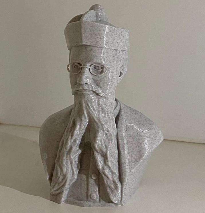 Mini Busto Pe Júlio Maria de Lombaerde - 10 cm