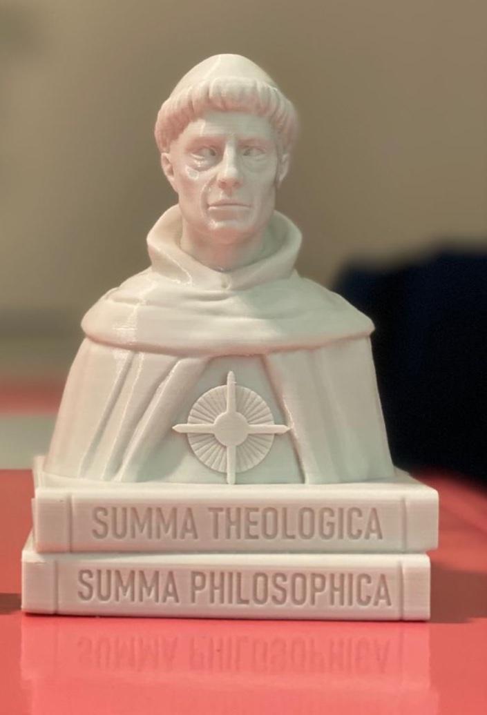 MINI Busto Santo Tomás de Aquino - Modelo 1 - 10 cm