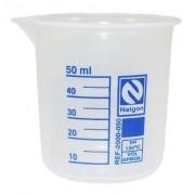 Béquer Forma Baixa em Polipropileno 50 mL