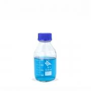 Frasco Reagente Graduado com Tampa Rosca Anti-gotas Azul 500 mL