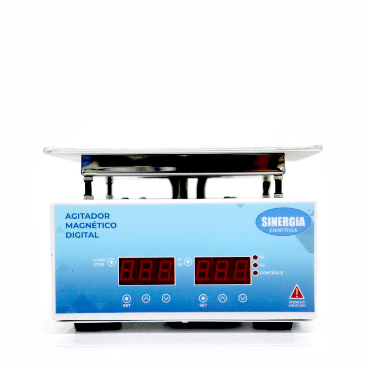 Agitador Magnético Digital com Aquecimento