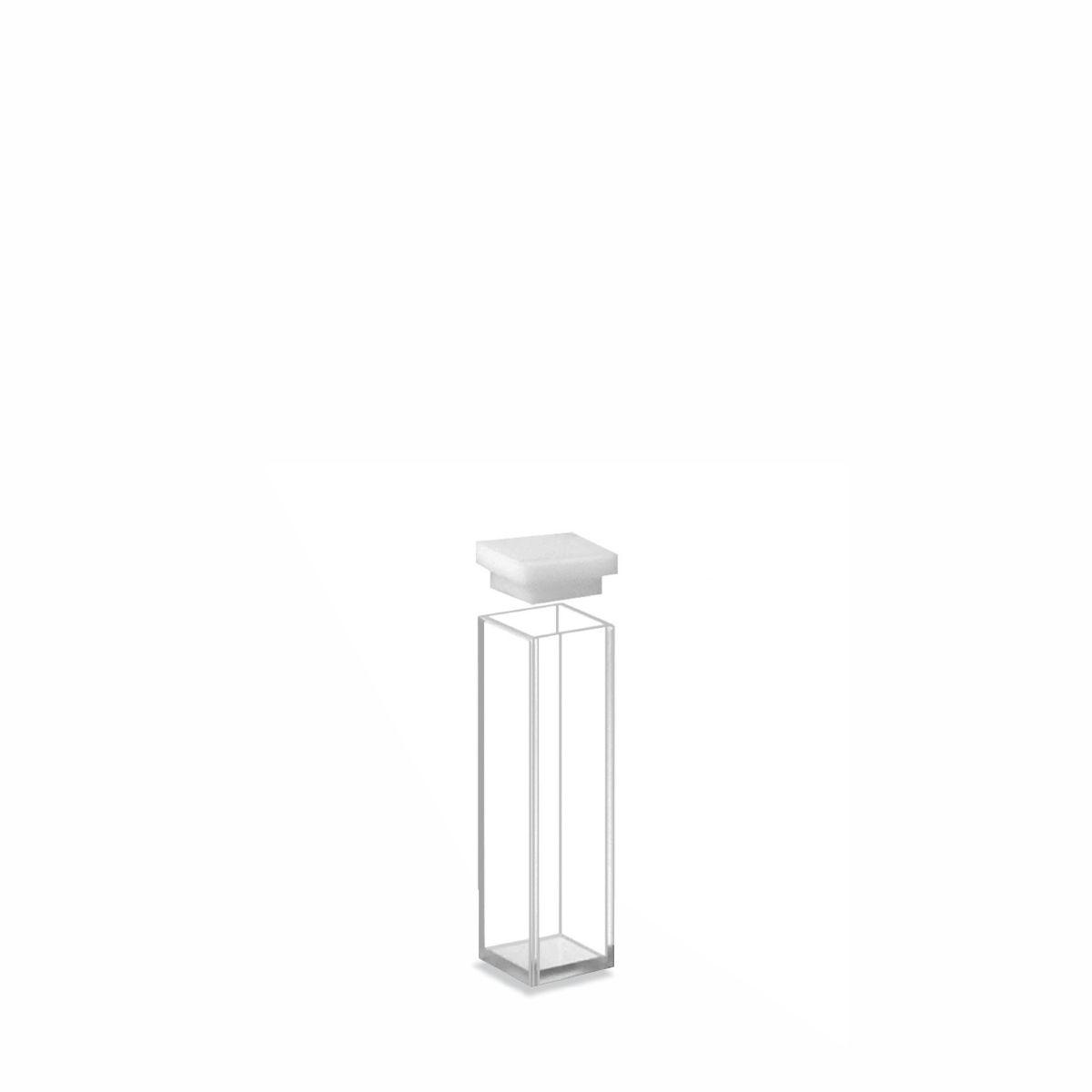 Cubeta em Quartzo com Duas Faces Polidas Passo 10 mm Volume 3,5 mL