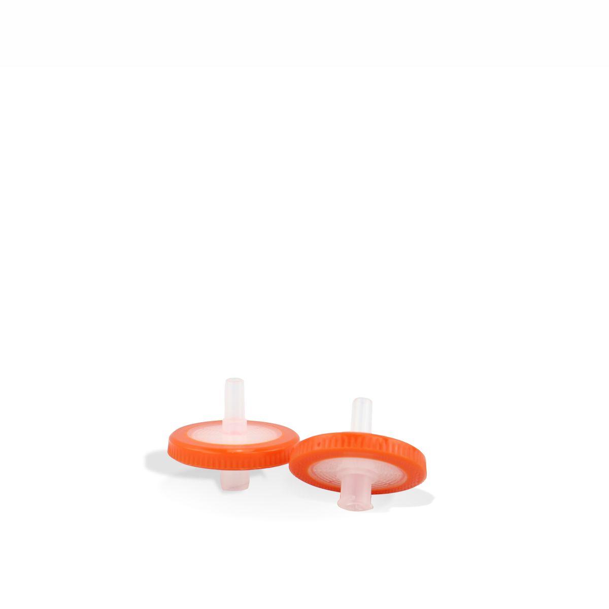 Filtro para Seringa com Membrana em PTFE Hidrofílico Poro 0,45 µm e Diâmetro 25 mm (100 unidades)