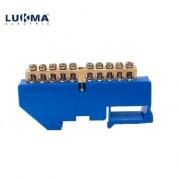 Barramento Neutro Lukma  Azul DIN C/ 10 Bornes