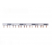 Barramento (Pente) Fase DIN  Steck  Bifásico  16 Polos 80A  S2F285B