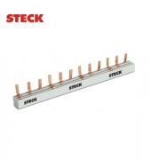 Barramento (Pente) Fase DIN  Steck  Trifásico  16 Polos  80A  S3F285B