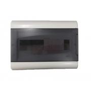 Centrinho Distribuição Steck de Embutir para 12 Disjuntores DIN Ouro Box Porta Fumê