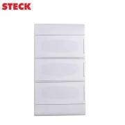 Centrinho Distribuição Steck de Embutir para 36 Disjuntores DIN Ouro Box Porta Branca